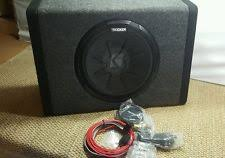 enclosed powered single kicker 10in speaker car subwoofers kicker pt250 10 subwoofer built in 100w amplifier