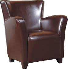 bonded leather chair brown the brick