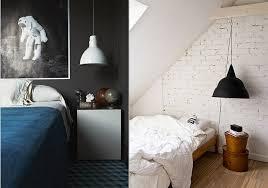 bedside lighting. interesting bedside black_and_white_hanging_pendant_light_bedroom_via_design_lovers_blog for bedside lighting