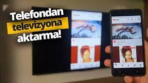 Telefon ekranını televizyona yansıttık! Telefonu televizyona bağlama -  YouTube