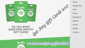 how to get free spotify gift card codes 2017