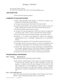 Stunning Information Security Resume Objective Contemporary