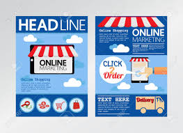 Marketing Flyer E Commerce Online Marketing Magazine Cover Flyer Brochure TemplateA24 20