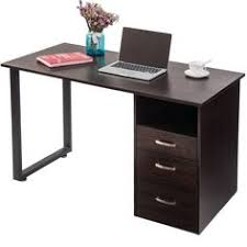 Merax Modern Simple Design Computer Desk Table Workstation With Cabinet And Drawers For Home U0026 Office