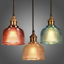 1 light modern contemporary bar dining room cafe multi colours glass pendant light