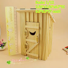 wholesale wooden doll dinning house furniture. wonderful doll 112 dollhouse miniature wood outhouse single double doll house furniture  from dropshipping suppliers intended wholesale wooden dinning house l
