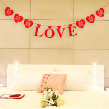 happy anniversary banners large heart love type wedding party derorations wedding supplies
