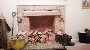 rebuilding an old fireplace