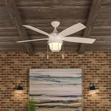 52 inch outdoor ceiling fan bay seaport inch indoor outdoor ceiling fan with light kit iron