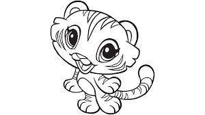 Small Picture Top 79 Tiger Coloring Pages Tiny Coloring Page