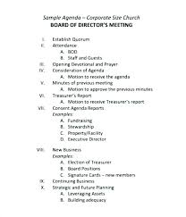 Meeting Agenda Minutes Template Sample Corporate Minutes Template Corporate Board Meeting Minutes