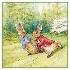 Beatrix Potter Peter Rabbit Runs Counted Cross Stitch Chart