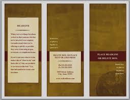 Microsoft Brochure Template Images Free Tri Fold Brochure Templates For Microsoft Word Three 18