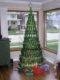 Picturesque Yet Unique Christmas Tree Decorations Made From Bottles Of Beer