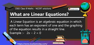 ncert solutions for class 8 linear