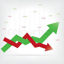 profit loss graph stock profit and loss graph for stock vector colourbox