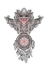 What Were Dream Catchers Used For Cool Hand Drawn Ornate Spiritual Symbols Totemic And Mascot Owl With