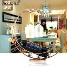 wood hanging wine glass rack wooden wine glass holder wine rack holder creative metal wine wine