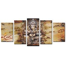 ganesha canvas prints wall art painting hindu picture framed home decor gift