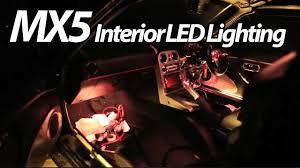 Miata Led Interior Lights Miata Mx5 Arduino Interior Lighting Test