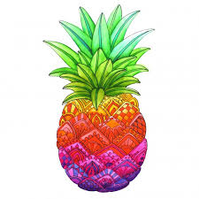 Small Picture Free Downloadable Zentangle Pineapple Coloring Page
