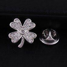 <b>CINDY XIANG Cubic Zirconia</b> Clover Collar Pin Brooches For ...