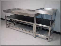 Stainless Top Kitchen Table Stainless Steel Kitchen Table With Casters Best Kitchen Ideas 2017