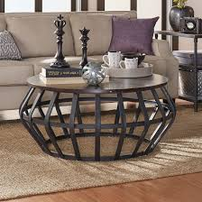 The style of the legs matches our mid. Weston Home Round Cage Shape Wood And Metal Accent Cocktail Coffee Table Brown Black Finish Walmart Com Walmart Com