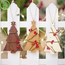 Großhandel Christbaumschmuck Aus Holz Hängen Weihnachten Anhänger Drop Ornamente Weihnachten Navidad Decor 2019 New Year Von Walkerstreet 3313 Auf