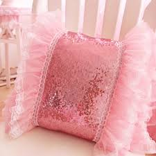 pink ruffle pillow. Exellent Ruffle Bling Pink Ruffle Sequin Cushion Cover To Pillow P