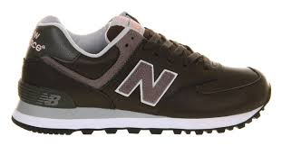 women s new balance leather dark grey shoes st