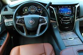 cadillac truck 2014 interior. the escaladeu0027s wellcrafted interior features premium leather wood grain and soft touch cadillac truck 2014