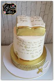 Gold White Baptism Cake Inspired By Cute Cakes By Angel