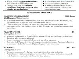 Pharmacy Manager Resume Resume Example