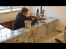 how to drill holes in the granite and finish the seam