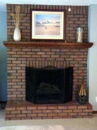 mantels over brick fireplaces shelves for update outdated fireplace white thin brick fireplace mantel