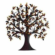 picture of metal tree w leaves wall art fr