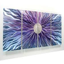 fancy plush design purple metal wall art home pictures com large blue and silver painting 2 piece dark flowers in