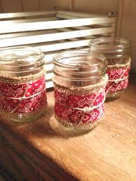 Decorating With Mason Jars And Burlap Mason Jar Burlap Bandana Could use to hold utensils or votives 81
