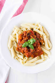 penne with eggplant tomato sauce