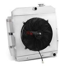 1955 chevy radiator 3 row full aluminum radiator 12v fan shroud for 55 59 chevy