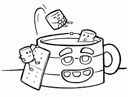 Coffee Mug Coloring Page Coloring Pages Blog Coloring Home