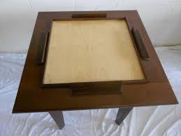 peruvian walnut domino table
