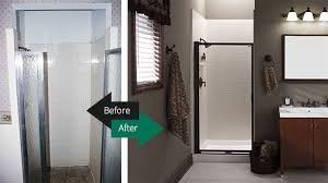 shower acrylic before after
