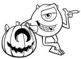 Halloween Coloring Pages For Children Pumpkin Man Free Coloring