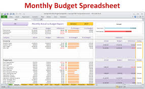 Home Budget Worksheet Monthly Budget Spreadsheet Planner Excel Home Budget For 22