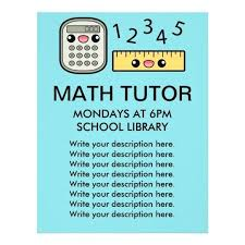 Math Tutor Flyer Examples Magdalene Project Org
