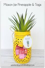 crafts to make and mason jar pineapple and tags cool and craft