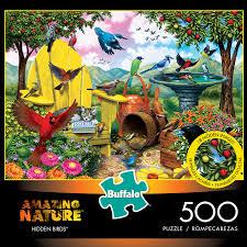 Play jigsaw games at y8.com. Amazing Nature Hidden Birds 500 Piece Jigsaw Puzzle Buffalo Games