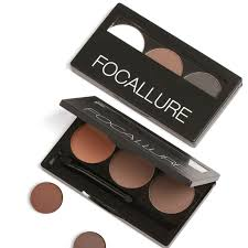 eyebrow powder. focallure eyebrow powder 3 colors eye brow palette waterproof and smudge proof with mirror brushes inside-in underwear from mother \u0026 kids